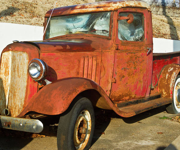 Rusty Poster featuring the photograph Rusty Chevrolet Pickup Truck 1934 by Douglas Barnett