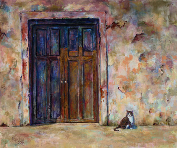 Doorway Poster featuring the painting Siesta by Billie Colson