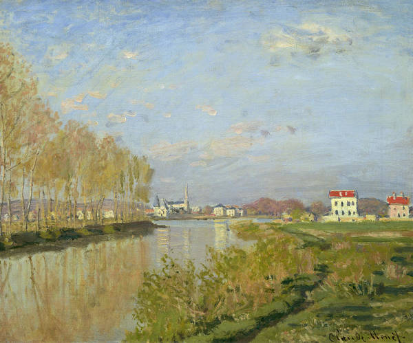 The Poster featuring the painting The Seine At Argenteuil by Claude Monet