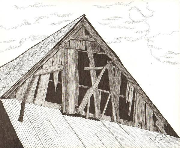 Pen And Ink Poster featuring the drawing Ventilated by Pat Price