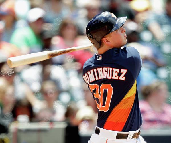 American League Baseball Poster featuring the photograph Matt Dominguez by Bob Levey