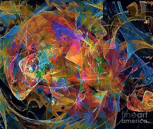 Graphics Poster featuring the digital art Abstraction 0357 Marucii by Marek Lutek
