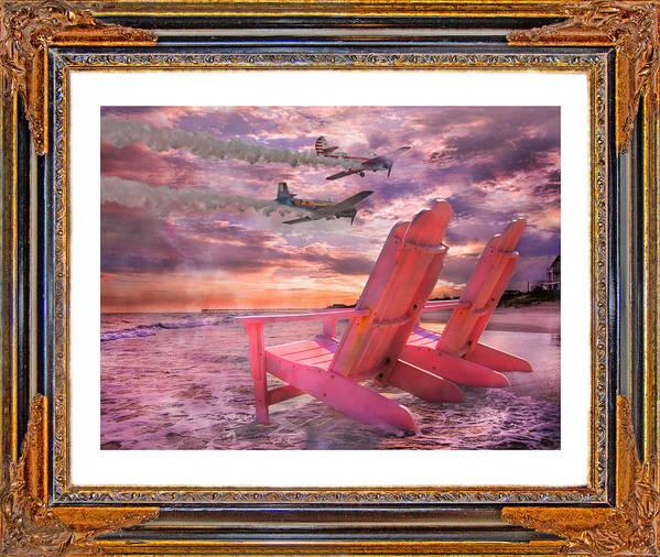 Topsail Poster featuring the digital art Beach Flight II by Betsy Knapp