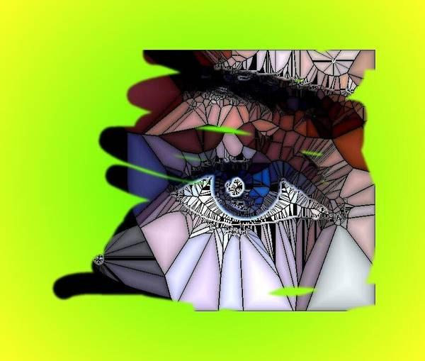 Digital Poster featuring the digital art Blue Eye by HollyWood Creation By linda zanini