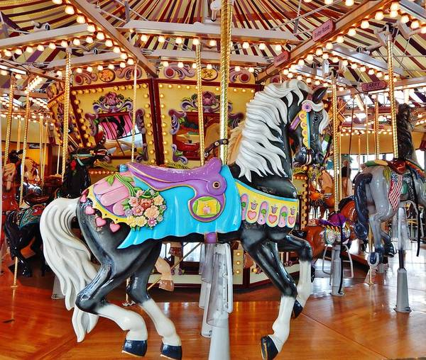 Carousel Poster featuring the photograph Carousel Horse 4 by VLee Watson