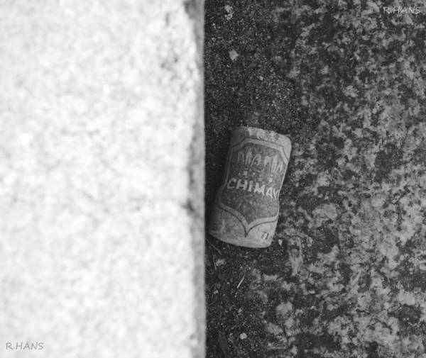 Central Park Poster featuring the photograph Chimay Wine Cork In Black And White by Rob Hans