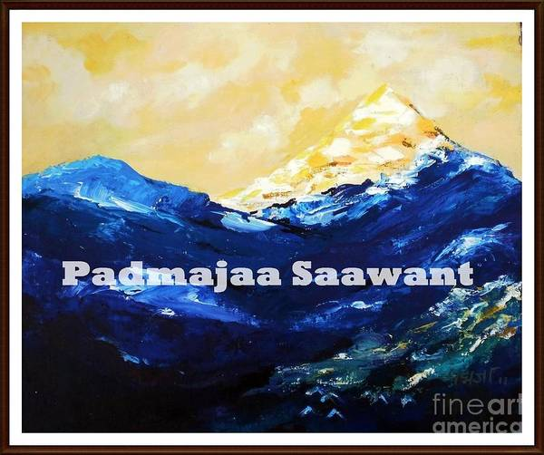 Poster featuring the painting Himayala by Nalini Sawant
