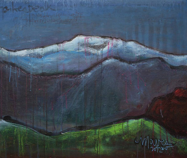 Colorado Poster featuring the painting Love For Pikes Peak by Laurie Maves ART