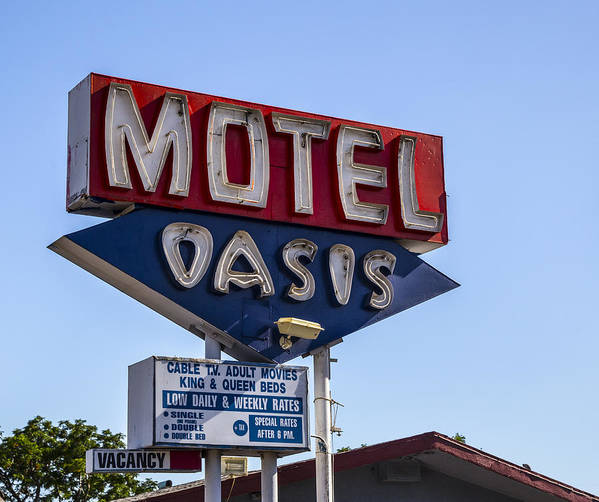 Route 66 Poster featuring the photograph Motel Oasis by Angus Hooper Iii