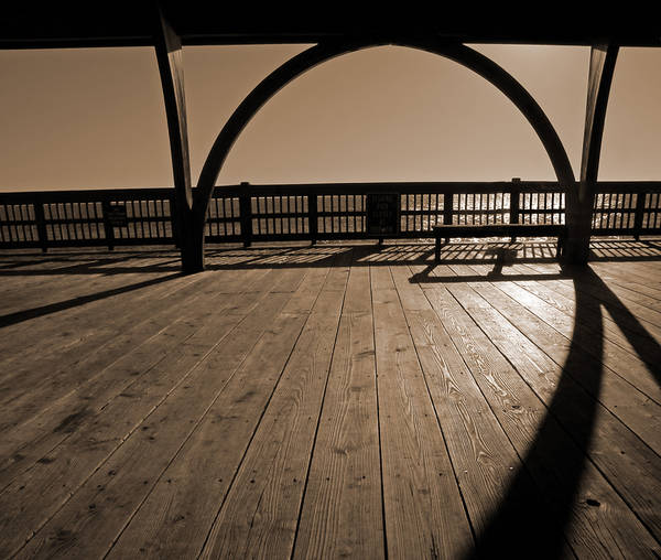 Tybee Island Pier Poster featuring the photograph Tybee Island Pier by Steven Michael