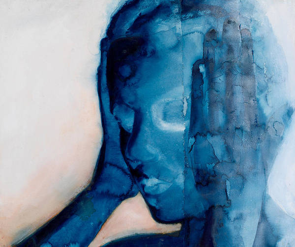 White Noise Poster featuring the painting White Noise by Graham Dean