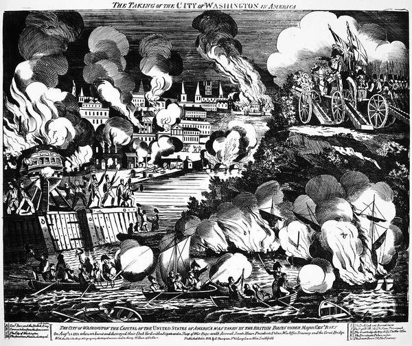 1814 Poster featuring the photograph Washington Burning, 1814 by Granger