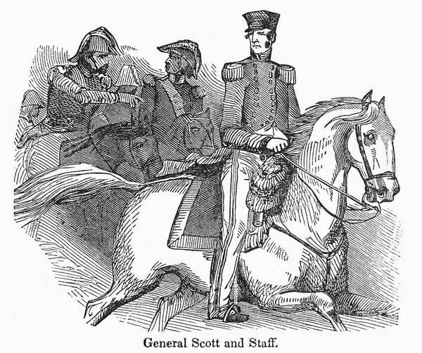 1848 Poster featuring the photograph Winfield Scott (1786-1866) by Granger