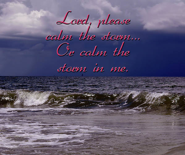 Storm Poster featuring the photograph Calm The Storm by Carolyn Marshall