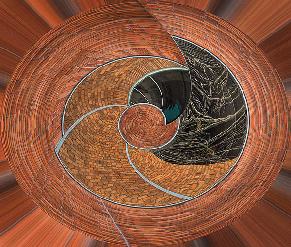 Creative Manipulation Poster featuring the photograph Circular Koin by Jean Noren