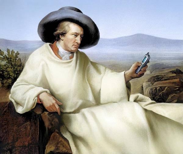 Johann Wolfgang Von Goethe Poster featuring the photograph Johann Von Goethe, German Author by Smetek