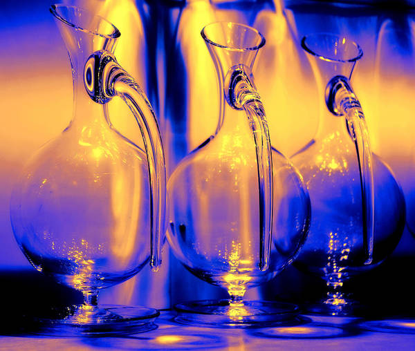 Vase Poster featuring the photograph Light And Colors Play I by Jenny Rainbow