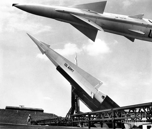 1959 Poster featuring the photograph Nike Missile, C1959 by Granger