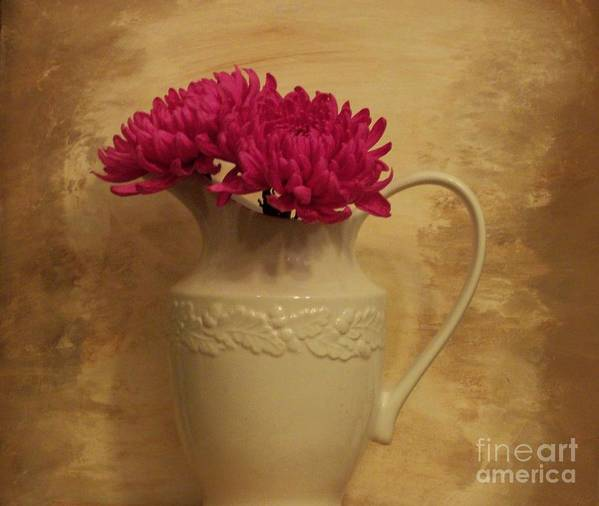 Photo Poster featuring the photograph The Grecian Magenta Mum by Marsha Heiken