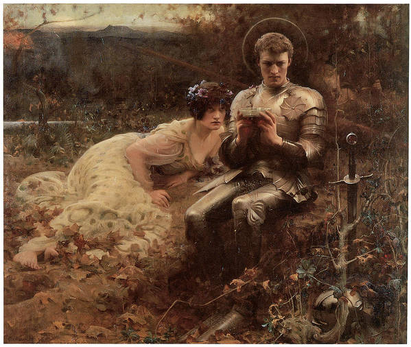 Arthur Hacker Poster featuring the painting The Temptation Of Sir Percival by Arthur Hacker