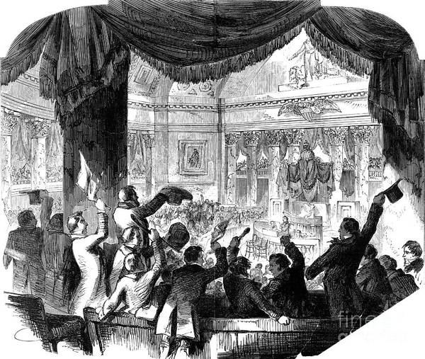 1856 Poster featuring the photograph U.s. Congress: House, 1856 by Granger