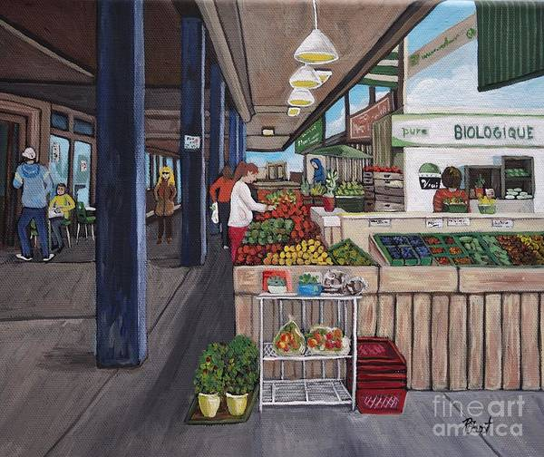 Markets Poster featuring the painting Atwater Market by Reb Frost