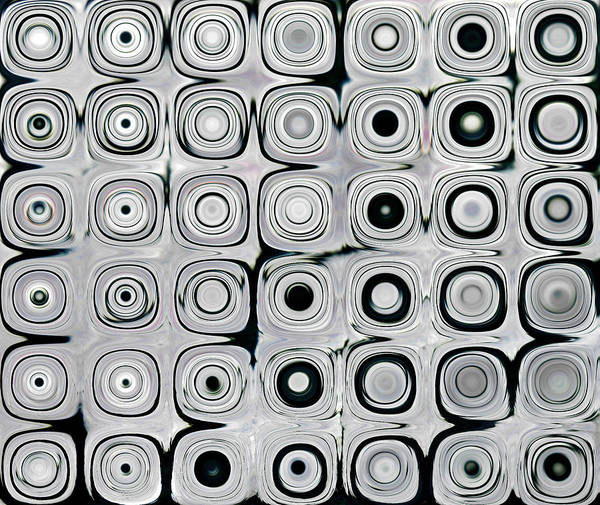 Digital Poster featuring the digital art Black And White Circles I by Patty Vicknair
