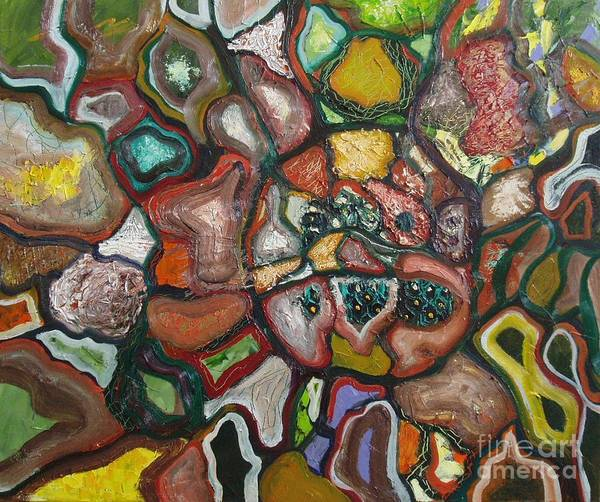Abstract Paintings Paintings Abstract Art Paintings Poster featuring the painting Mindscape by Seon-Jeong Kim
