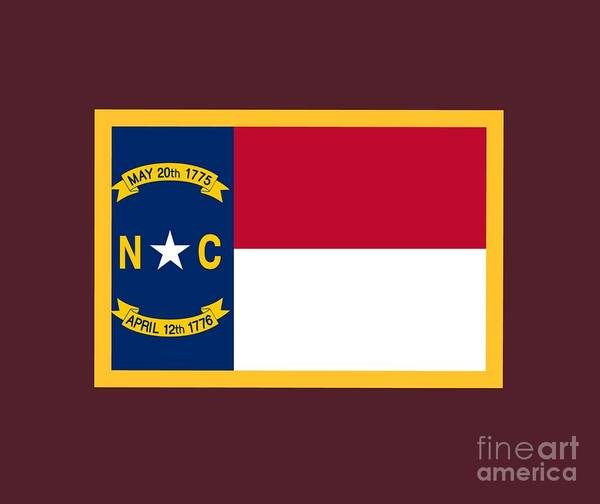 Flag Poster featuring the digital art North Carolina Flag. by Frederick Holiday