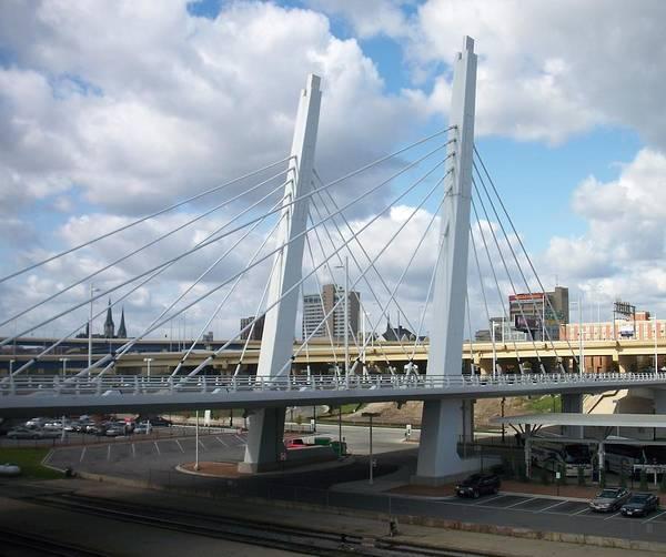 Bridge Poster featuring the photograph 6th Street Bridge by Anita Burgermeister