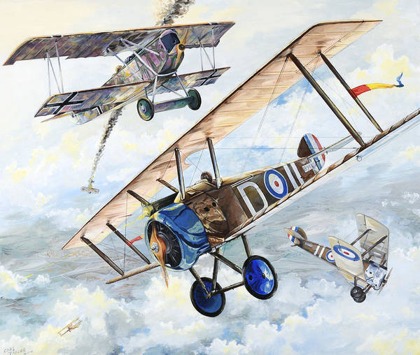 Aircraft Poster featuring the painting American Camel by Charles Taylor