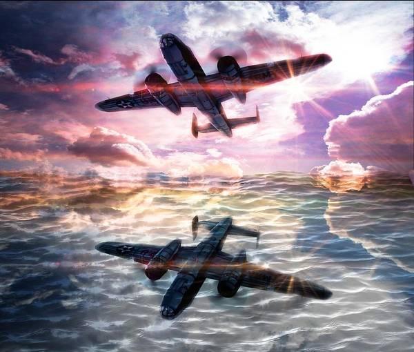 B-25b Usaaf Poster featuring the digital art B-25b Usaaf by Aaron Berg