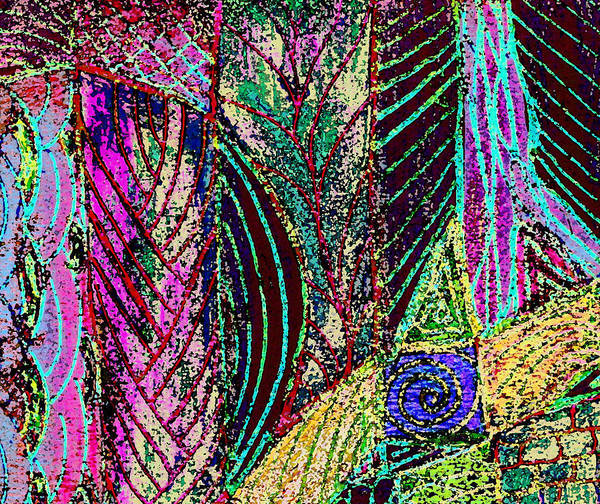 Abstract Poster featuring the digital art Celebration Of Spring by Wayne Potrafka