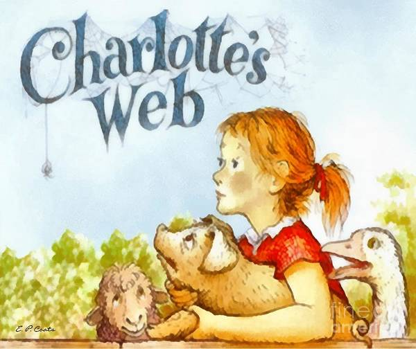 Charlottes Web Painting Poster featuring the painting Charlottes Web by Elizabeth Coats