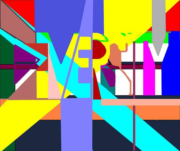 Diversity Poster featuring the digital art Diversity Enmeshed by Pharris Art