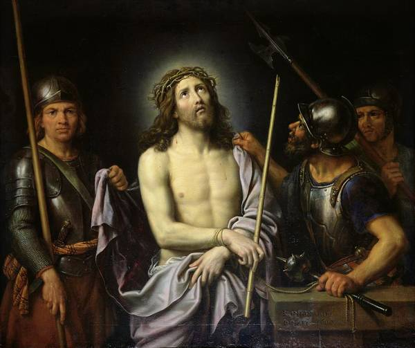Ecce Poster featuring the painting Ecce Homo by Pierre Mignard