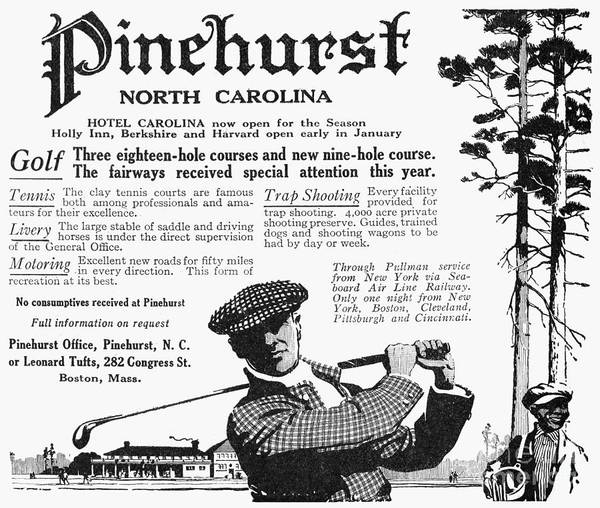 1916 Poster featuring the photograph Golf: Pinehurst, 1916 by Granger