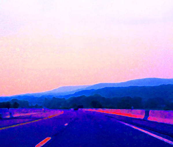 Landscape Poster featuring the photograph Highway In The Hills Sat Ae 2 by Lyle Crump