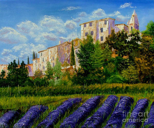 Lavander Poster featuring the painting Lavander Field by Inna Montano