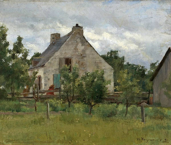 William Brymner Poster featuring the painting Maison De Campagne by William Brymner