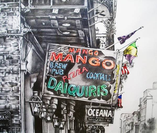Mango Poster featuring the mixed media Mango Mango by Michael Lee Summers
