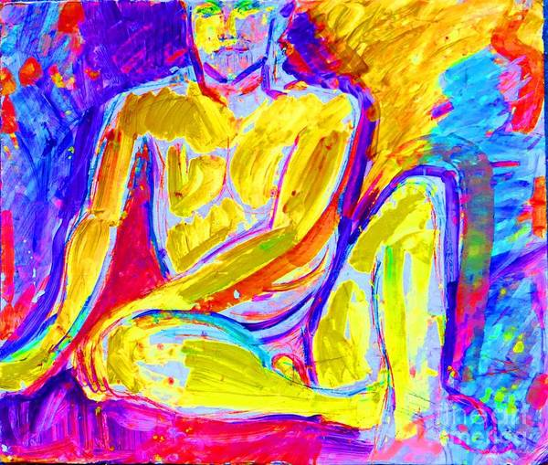 Male Nude Poster featuring the painting Modern Day David by Lynn Rogers