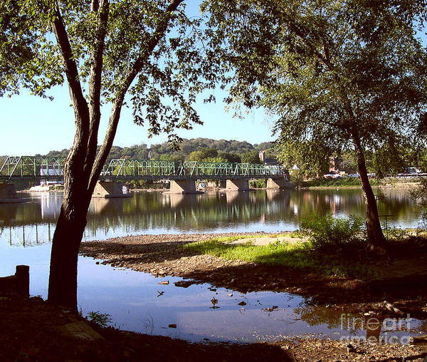 Bucks County Poster featuring the photograph New Hope Lambertville Bridge by Addie Hocynec