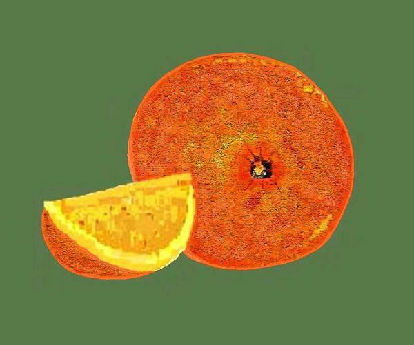 Fruit Poster featuring the digital art Orange by Carole Boyd