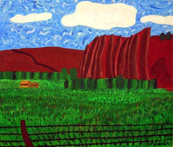 Landscape Poster featuring the painting Palisades Co by Natalee Parochka