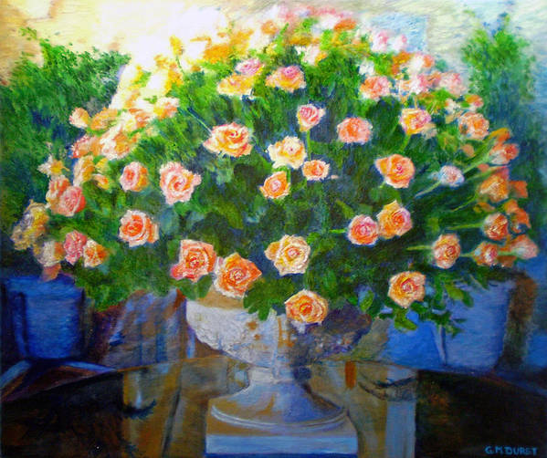 Rose Poster featuring the painting Roses At Table Bay by Michael Durst