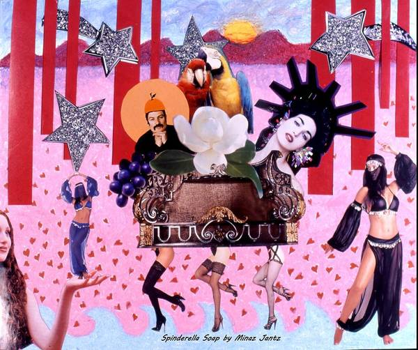 Collage Poster featuring the drawing Soap Scene # 28 You Have Seen That Movie Too by Minaz Jantz
