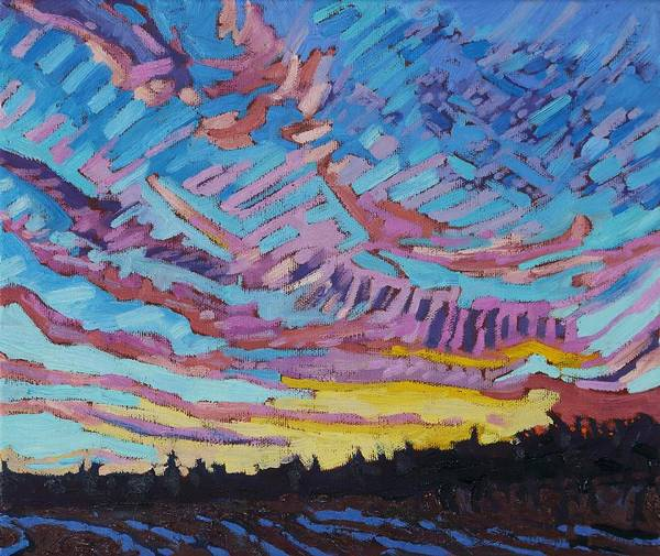 1906 Poster featuring the painting Sunrise Freezing Rain Deformation Zone by Phil Chadwick
