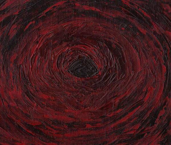 Swirls Poster featuring the painting The Black Hole by Jill Christensen