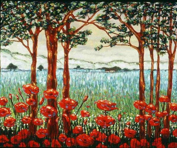Flowers Poster featuring the painting The Doorway by Helen O Hara